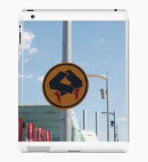 0838 Pedestrians doing quick step iPad Case/Skin