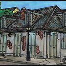 Lafitte's Blacksmith Shop by Lynette K.