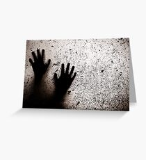 hands and window Greeting Card