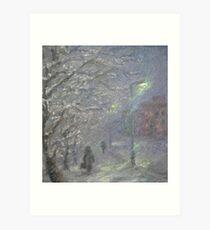 Forgotten Winter  / 1987 / oil on cardboard Art Print