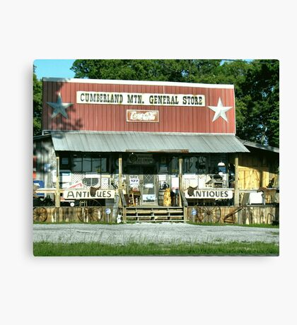 """Cumberland Mountain General Store (color version)""... prints and products Canvas Print"