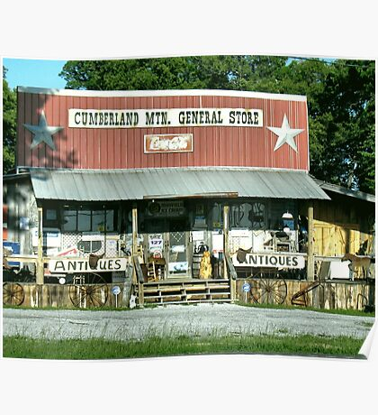 """""""Cumberland Mountain General Store (color version)""""... prints and products Poster"""
