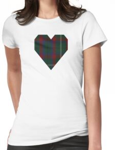 00341 Mayo County District Tartan Womens Fitted T-Shirt