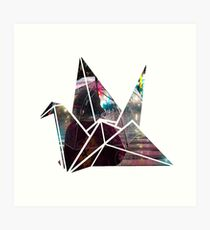Shibuya Crossing in an Origami Crane Art Print