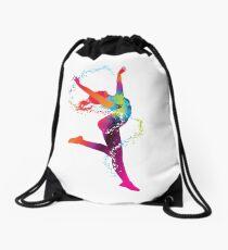 Gymnast Ballet Moves Drawstring Bag