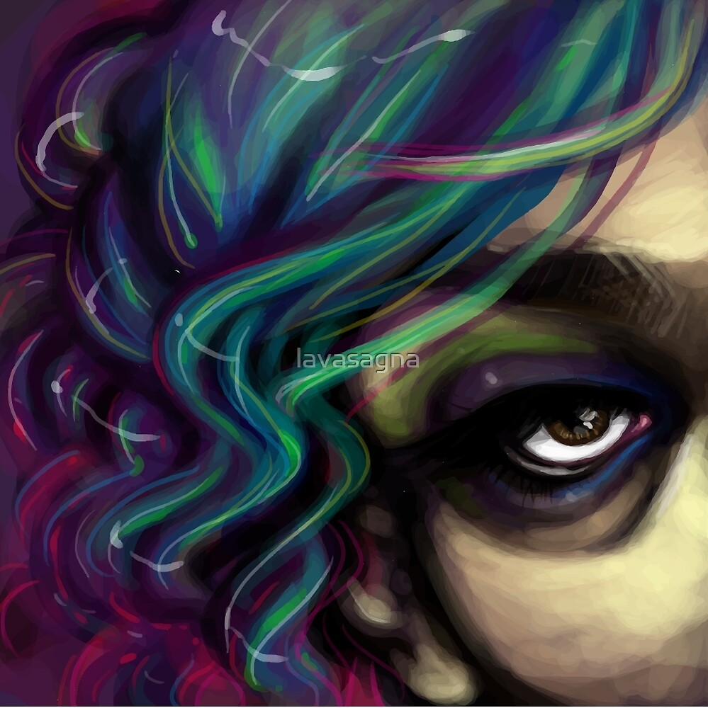 Witchy Eyeball Lady by lavasagna