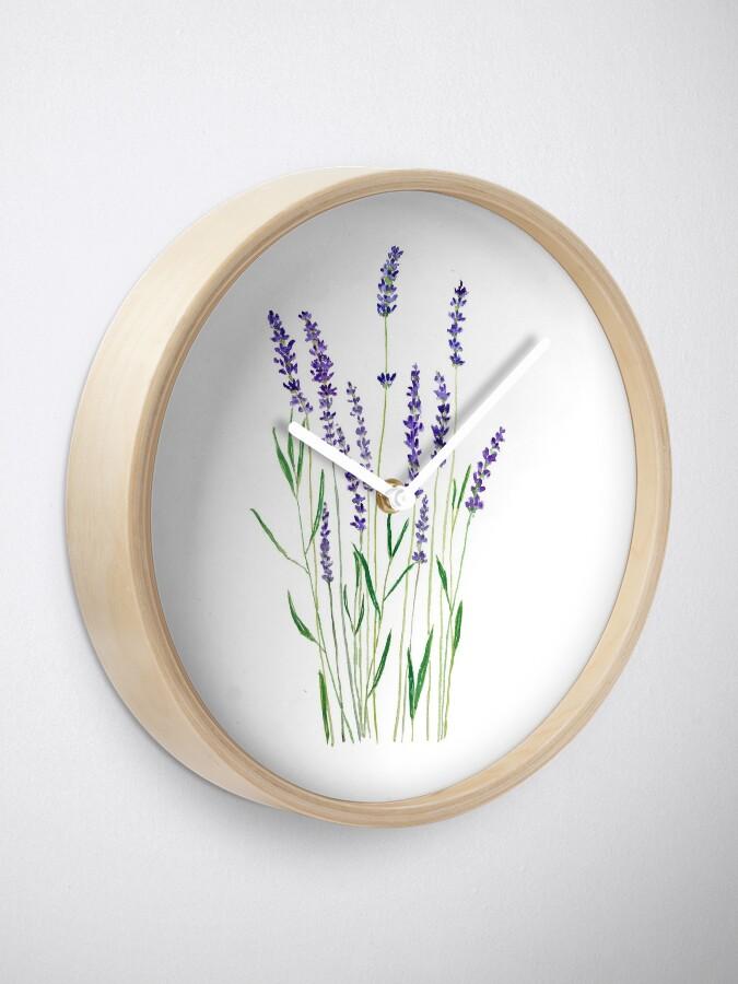 Vista alternativa de Reloj lavanda púrpura