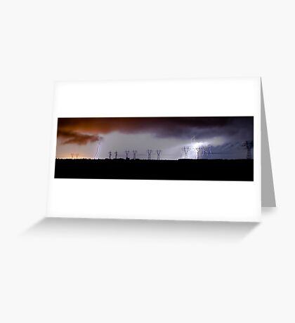 Lightning Strike at Lovely Banks Greeting Card
