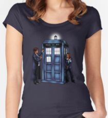 The Agents have the Phone Box Women's Fitted Scoop T-Shirt