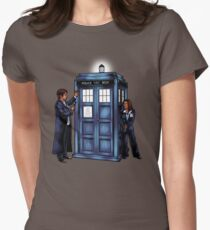 The Agents have the Phone Box Womens Fitted T-Shirt