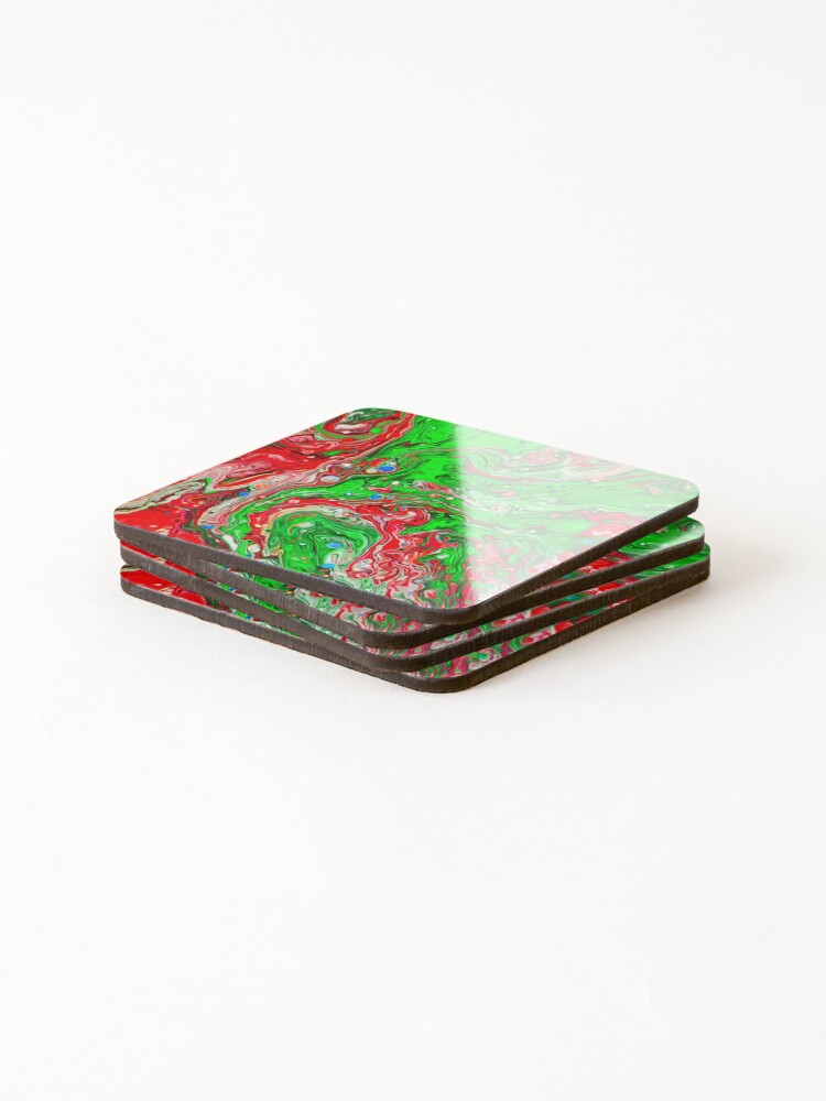 Alternate view of Abstraction #C Coasters (Set of 4)