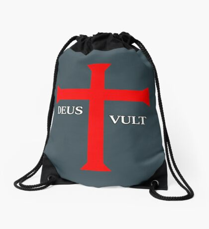 DEUS VULT (God wills it!) Drawstring Bag