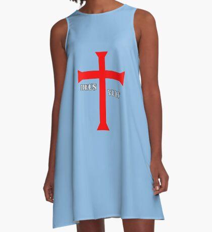 DEUS VULT (God wills it!) A-Line Dress