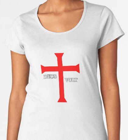 DEUS VULT (God wills it!) Premium Scoop T-Shirt
