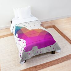 Graphic Cat Splash Comforter