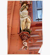 Abundantia and the little craper of ducats, Goslar, Germany. Poster