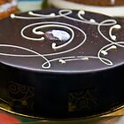 Chocolate Cake With Gold Around It. by FoodMaster