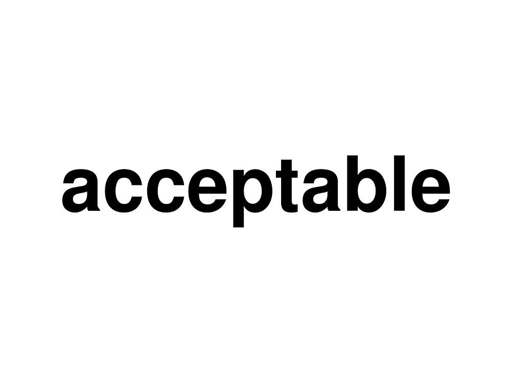 acceptable by ninov94
