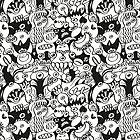 Doodles get crazy when posing for a pattern design by Zoo-co