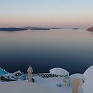 Santorini Tranquility by Martin  Hazelgrave