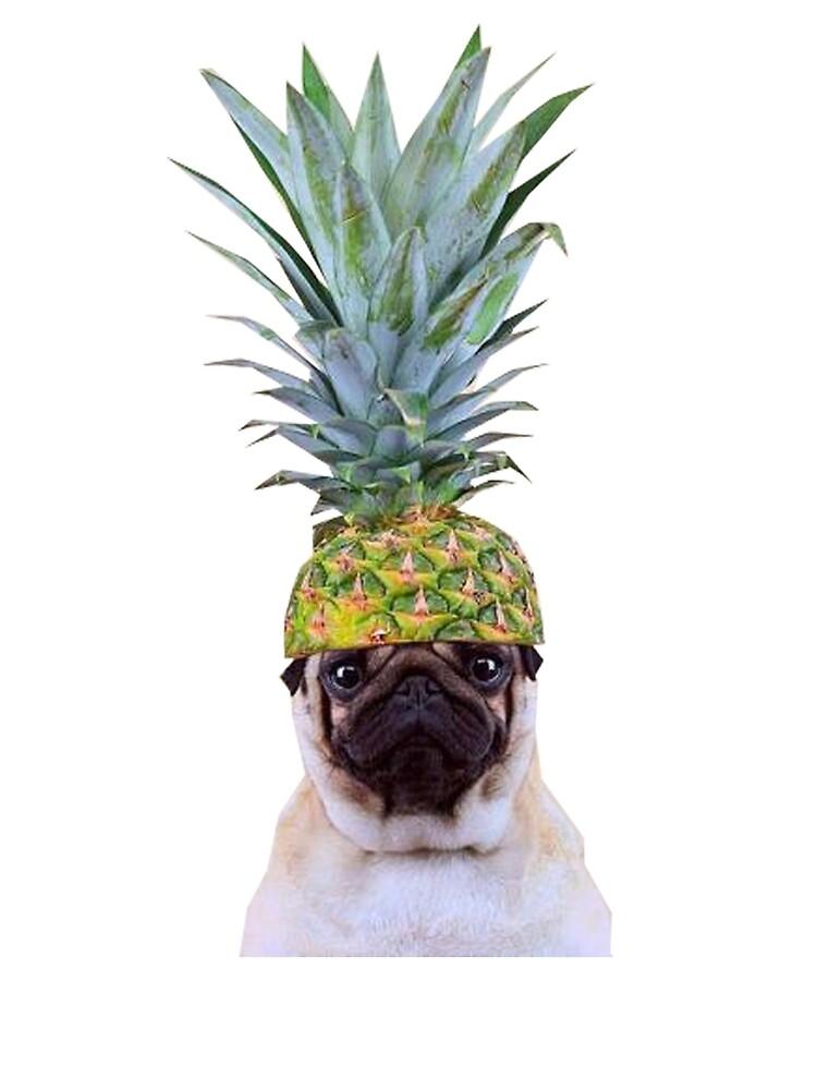 Pug Pineapple by PugLove