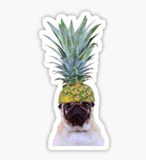 Pug Pineapple Sticker