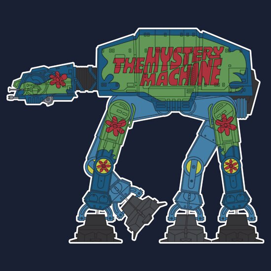 TShirtGifter presents: The Mystery Machine AT-AT T-Shirt