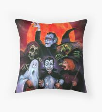 Halloween Monsters (Trick or Treat) Throw Pillow