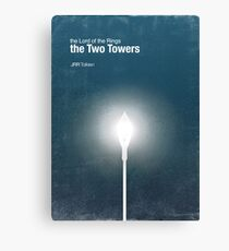 """""""The Two Towers"""" - minimalist poster design Canvas Print"""