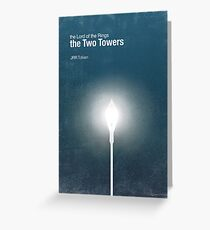 """""""The Two Towers"""" - minimalist poster design Greeting Card"""