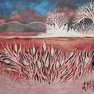 Cattail Island by linmarie