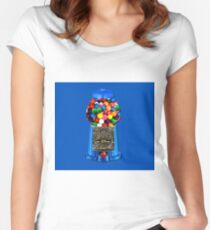 MEMORIES OF GUMBALL MACHINE >>PILLOWS,TOTE BAG,JOURNAL,MUGS,SCARF ECT.. Women's Fitted Scoop T-Shirt