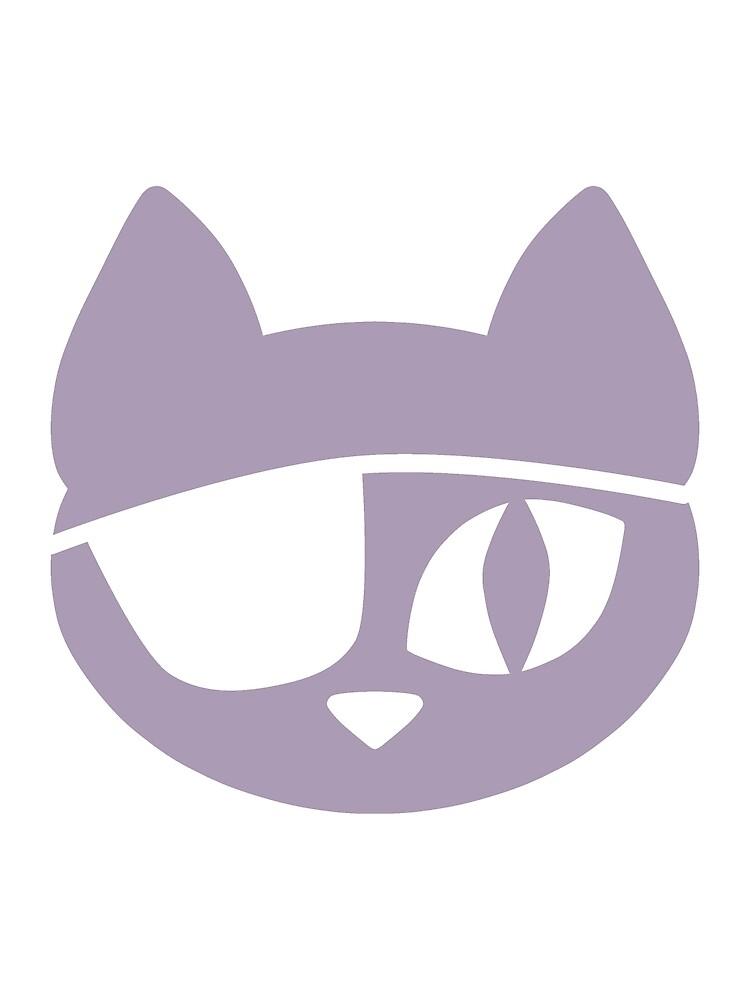 Pirate Cat Purple by DeliriumLina