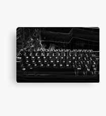 Quirky Keyboard Canvas Print