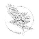Hunter - Wordcloud Raven von Michelle Audren