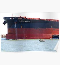 Coal ship Pacific Breeze - Newcastle Harbour NSW Australia Poster