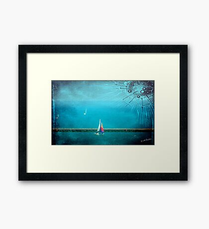 To another world...© Framed Print