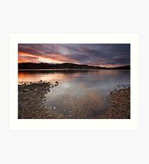 Port Cygnet Sunset #2 Art Print