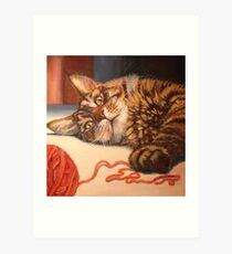 Afternoon Romp With Yarn Art Print