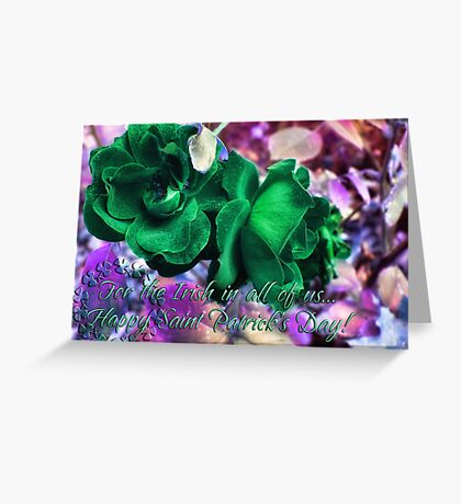 Saint Paddy's Day Card Greeting Card
