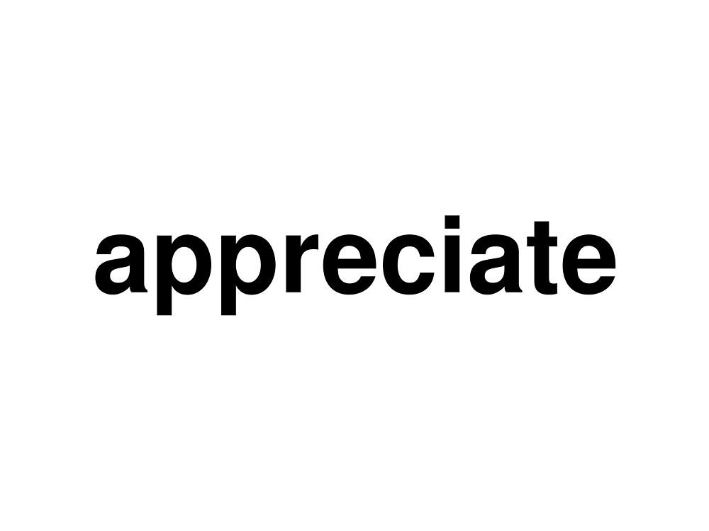 appreciate by ninov94