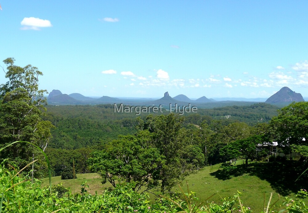 Glasshouse mountains (2) by Margaret  Hyde