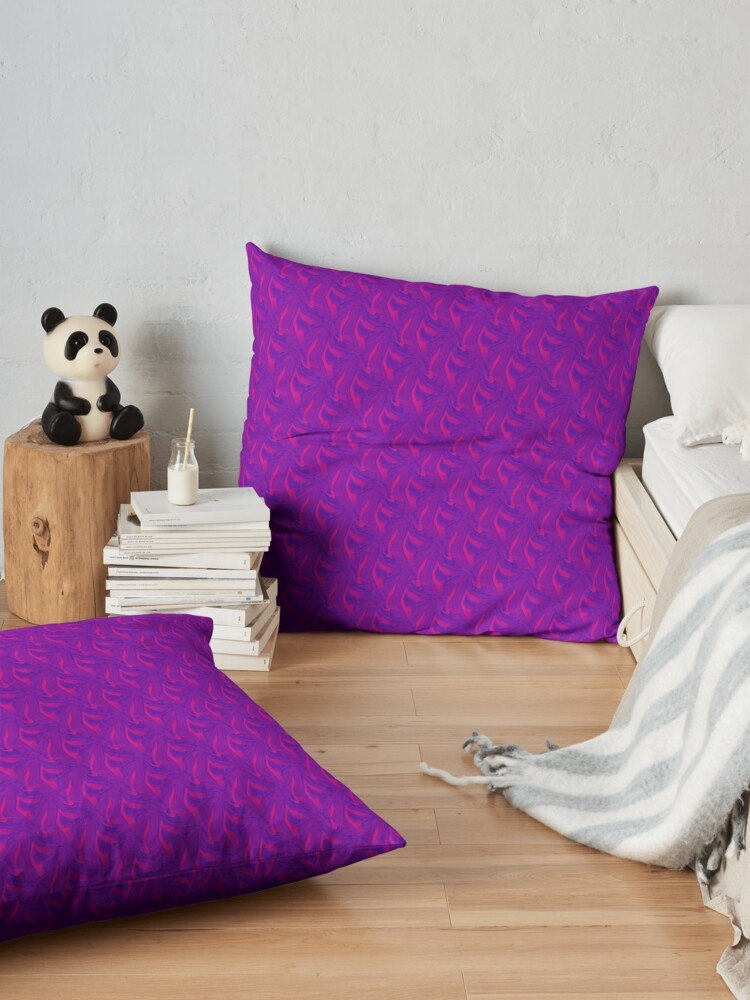 Alternate view of Pink Waves and Purple Haze Floor Pillow