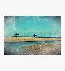 surfers at lagoon 1 Photographic Print