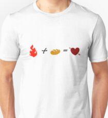Fire + Bread = True Love T-Shirt