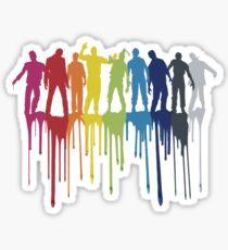 Rainbow Zombie Shuffle: Version One Sticker
