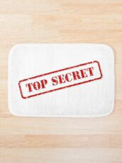 Top secret stamp Bath Mat