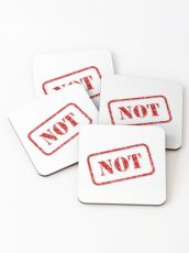 Not stamp Coasters