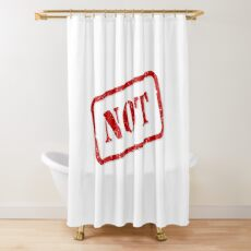 Not stamp Shower Curtain