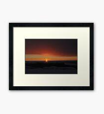 Winter Solstice Sunrise  Framed Print